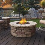 Real Flame Sedona Round Gas Fire Table in Buff - C11810LP-BF