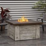 Real Flame Forest Ridge Gas Fire Table in Weathered Gray - C1600LP-WGR