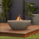 Real Flame Riverside Gas Fire Bowl in Glacier Gray - C539LP-GLG
