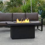 Real Flame Ventura Rectangle Gas Chat Height Fire Table in Kodiak Brown - C9640LP-TKB