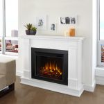 Real Flame Silverton Electric Fireplace in White - G8600E-W