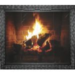 Thermo-Rite Aztec Custom Glass Fireplace Door - Welded Steel - AZTEC (shown in Natural Iron)