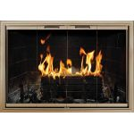 Thermo-Rite Cameo Custom Glass Fireplace Door - Aluminum - CAMEO (shown in Bronze Iron)