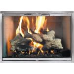 Thermo-Rite Classic Custom Glass Fireplace Door - Artisan Series Custom Masonry - Stainless Steel - CLASSIC