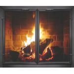 Thermo-Rite Normandy Custom Glass Fireplace Door - Welded Aluminum - NORMANDY (shown in Natural Iron)