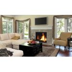 """Superior 45"""" Direct-Vent Fireplace, Top Vent, Front View, Louverless - DRC6345"""