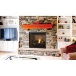 "Superior 40"" Direct-Vent Fireplace, Top Vent, Front View, Louverless - DRT6340"