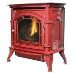 Ashley Hearth Products AGC500VF Vent Free Gas Stove - Red - LP - AGC500VFRLP