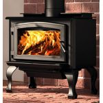 Osburn 1700 Wood Stove with Black Door Overlay - OB01700