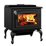 Drolet Escape 1800 Wood Stove On Legs with Black Door - DB03105