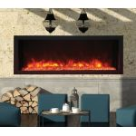 Remii 45 Extra Slim Indoor or Outdoor Electric Built-In Fireplace - 102745-XS