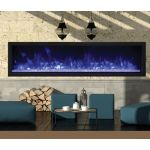 Remii 65 Extra Slim Indoor or Outdoor Electric Built-In Fireplace - 102765-XS