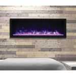 Remii 65 Tall Indoor or Outdoor Electric Built-In Fireplace - 102765-XT