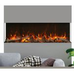 Amantii 72 Unit - 14 1/4 In Depth 3 Sided Glass Fireplace - 72-TRV-XT-XL