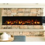 Amantii 72 Unit - 10 5/8 In Depth 3 Sided Glass Fireplace - 72-TRV-slim