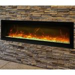 Remii 74 Basic Clean-Face Electric Built-In Fireplace - WM-74-B