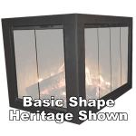 Thermo-Rite Cameo Corner Unit Custom Glass Fireplace Door - CAMEO-CORNER