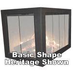 Thermo-Rite Classic Corner Unit Custom Glass Fireplace Door - CLASSIC-CORNER