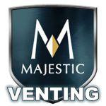 Majestic Venting - Square Termination Cap - Painted Black - ST1175