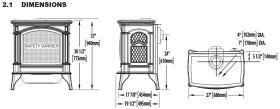 Napoleon-gds60-direct-vent-gas-stove-dimensions