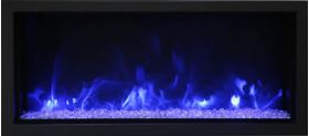"Amantii 50"" Deep Extra Tall Indoor or Outdoor Electric Built-In only with black steel surround - BI-50-DEEP-XT"