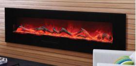 "Amantii WM-FM-72-8123-BG 72"" Electric Fireplace - Wall Mount/Built In - WM-FM-72-8123-BG"