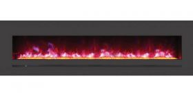 "Amantii / Sierra Flame 72"" Electric Fireplace - Wall Mount / Built-In - WM-FML-72-7823-STL"