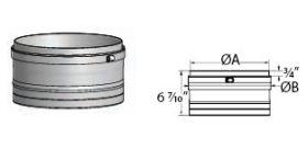 M&G DuraVent 12 FasNSeal Flexible Vent Male Adapter- FSA-12M-FNSM