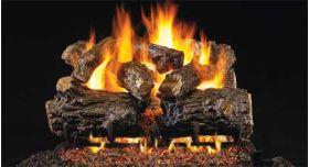 """Real Fyre 24"""" G4 Burnt Rustic Oak Log Sets - HCHRG4-24"""