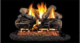 "Real Fyre 36"" G4 Charred Split Log Sets - CHSG4-36"