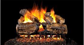 """Real Fyre 30"""" G4 Burnt Split Oak Log Sets - HCHSG4-30"""
