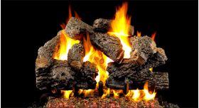 "Real Fyre 18"" GX4 Charred Royal English Oak Log Sets - CHBGX4-18"