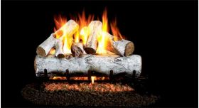 Real Fyre 30'' G4 White Birch Log Sets - WG4-30