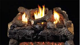 Real Fyre 18'' Evening Fyre Charred Vent Free Log Set - See Thru - ECVG18-2-18