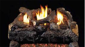 Real Fyre 24'' Evening Fyre Charred Vent Free Log Set - See Thru - ECVG18-2-24