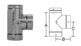 Selkirk 5'' RV Reduction Tee 5x4 - 105104 - 5RV-T4