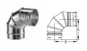 M&G DuraVent 10'' Round Gas Vent 90 Degree Adjustable Elbow - 10GVL90 // 10GVL90