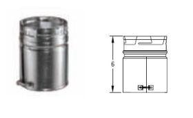 M&G DuraVent 7'' Round Gas Vent Male Adapter - 7GVAM // 7GVAM