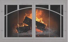 Fireplace glass doors custom thermo rite normandy supreme thermo rite normandy supreme custom glass fireplace door welded aluminum normandy supreme planetlyrics Choice Image