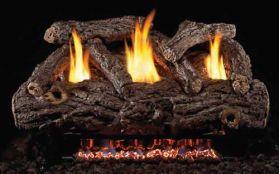 Real Fyre 24'' Gold Oak Designer Vent Free Log Set - RDG9-24