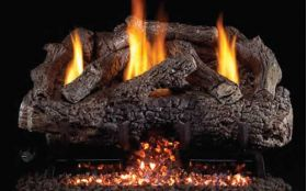 Real Fyre 16'' Charred Frontier Oak Vent Free Log Set - CHFRG10-16