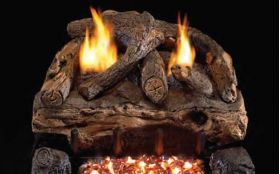 Real Fyre 24'' Evening Fyre Split Log Set - See Thru - ESVG18-2-24