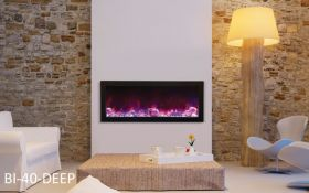 Amantii 40'' Deep Electric Built-in only with black steel surround - BI-40-DEEP