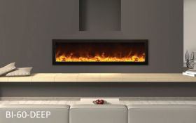Amantii 60'' Deep Electric Built-in only with black steel surround - BI-60-DEEP