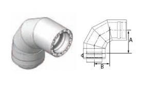 M&G DuraVent 10'' FasNSeal W2 88 Degree Double Wall Elbow - W2-8810 // W2-8810