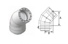 M&G DuraVent 10'' FasNSeal W2 45 Degree Double Wall Elbow - W2-4510 // W2-4510