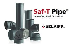 Selkirk 7'' Saf-T Pipe 90 Degree Fixed Elbow - 2714B