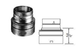 Selkirk 5'' RV Reducer 5x4 - 105364 - 5RV-R4