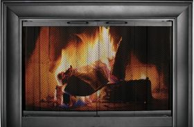 "Thermo-Rite Celebrity 41 1/2"" x 26"" Glass Fireplace Aluminum Enclosure - CE4126"