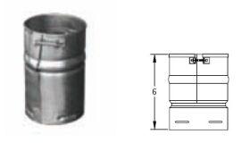 M&G DuraVent 7'' Round Gas Vent Female Adapter - 7GVAF // 7GVAF